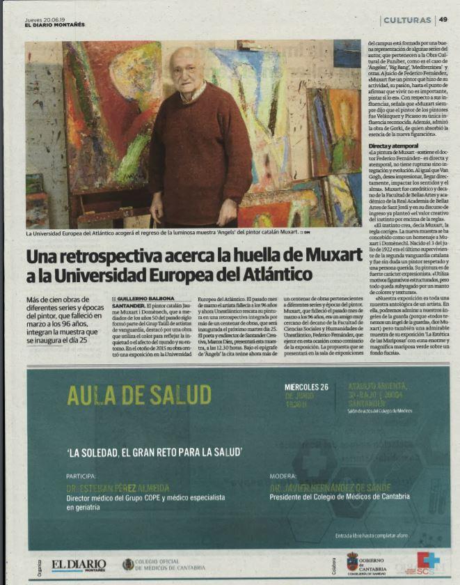 Exposición Muxart en Diario Montañés